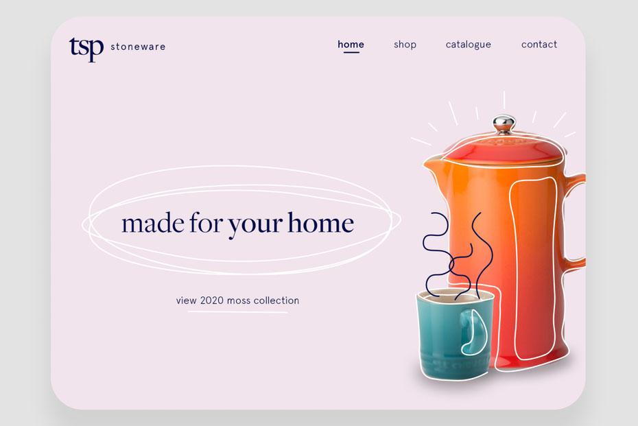 Xu hướng thiết kế website kết hợp hình ảnh với yếu tố đồ họa