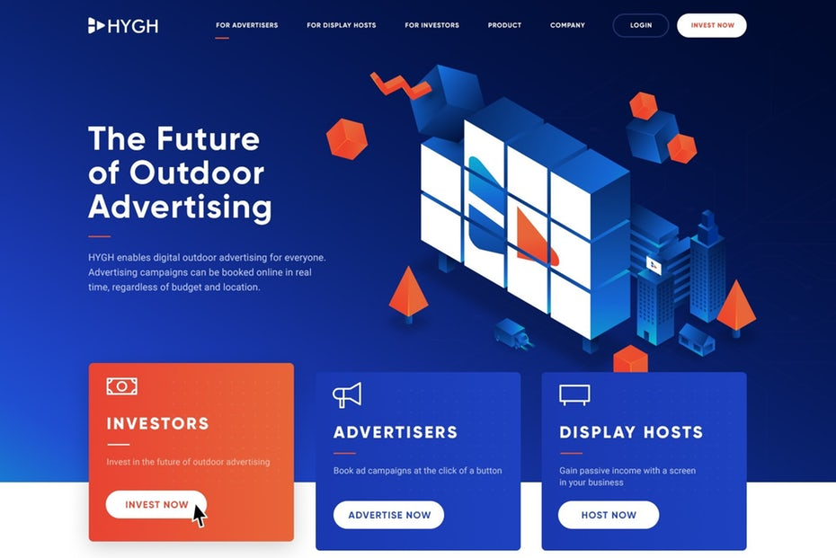 Xu hướng thiết kế website sử dụng các màu dạ quang rực rỡ