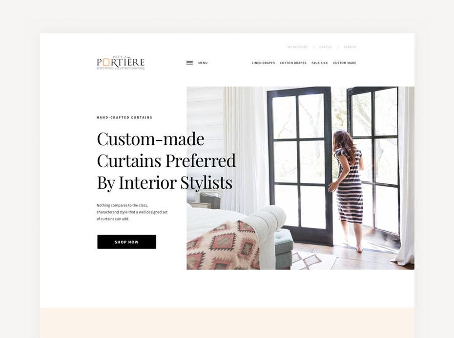 Xu hướng thiết kế website tận dụng không gian trắng và việc đóng khung